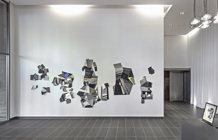 installation view of Folds in Spaces Curated by David McIntosh